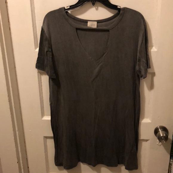 3320d84c28 caution to the wind Dresses   Open V Cutout Tshirt Dress   Poshmark